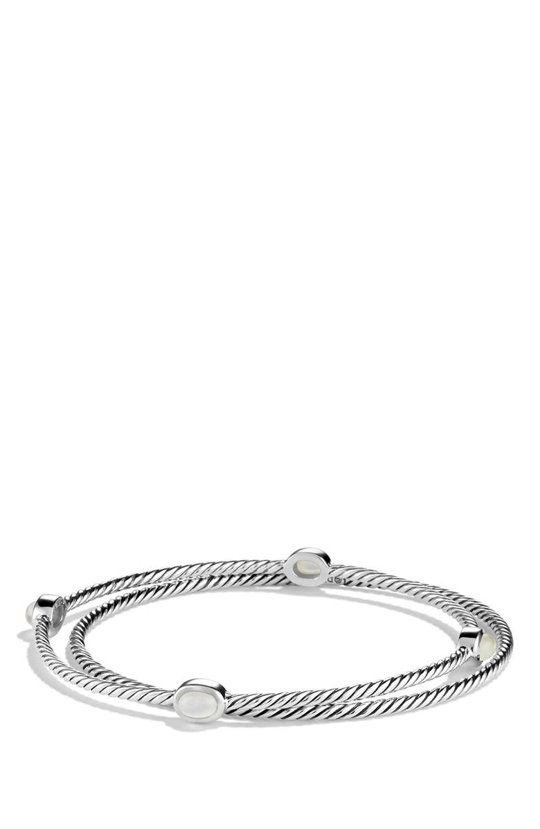 DAVID YURMAN 'Color Classics' Set of 2 Bangles with Semiprecious Stones, Main, color, 104