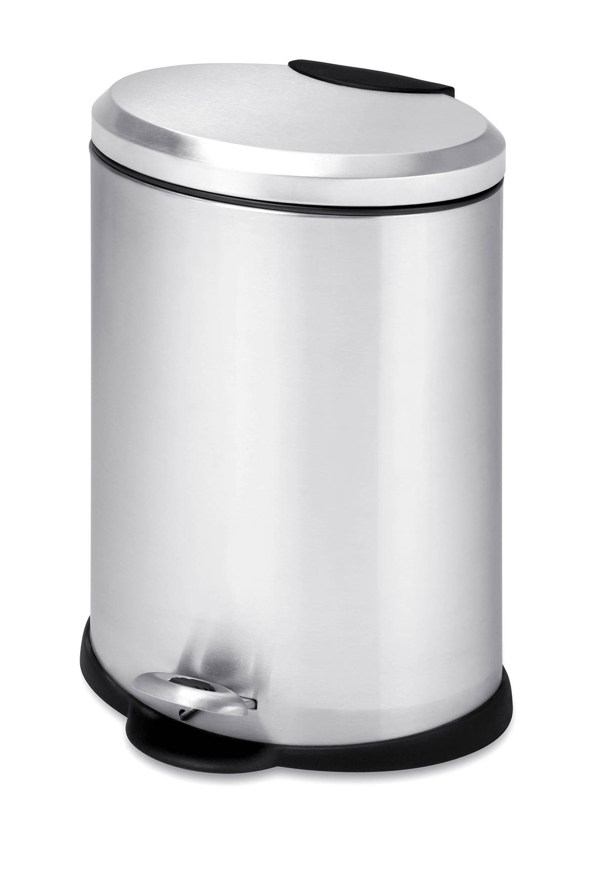 Image of Honey-Can-Do Oval Stainless Steel Step Trash Can