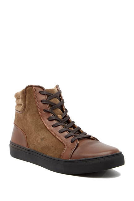 Image of Kenneth Cole Reaction Contrast Leather Hi-Top Sneaker
