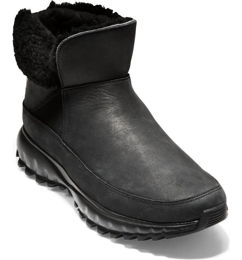 COLE HAAN ZeroGrand Explore All Terrain Waterproof Bootie, Main, color, BLACK LEATHER