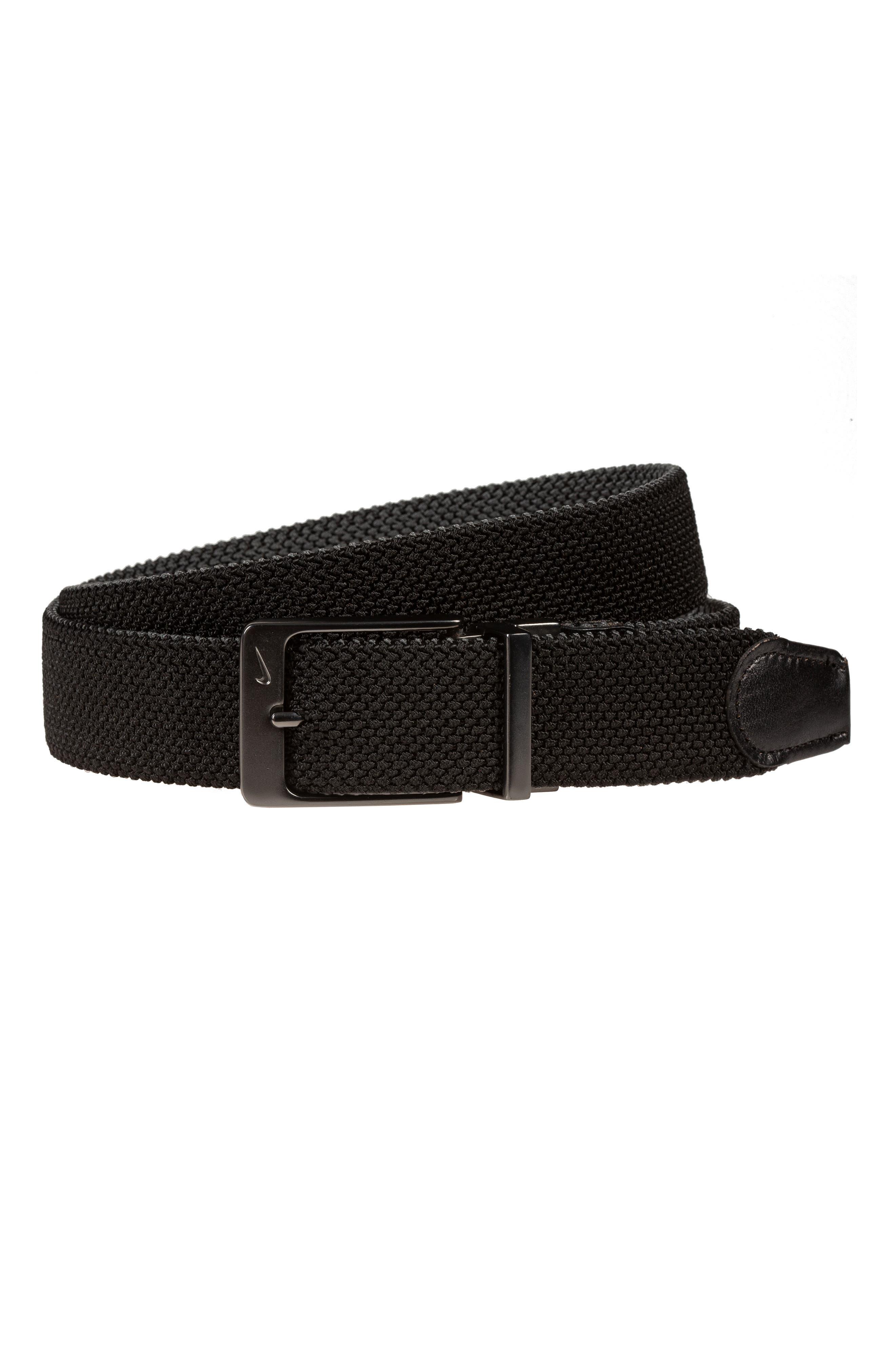 Nike Reversible G-Flex Woven Belt, Blackdark