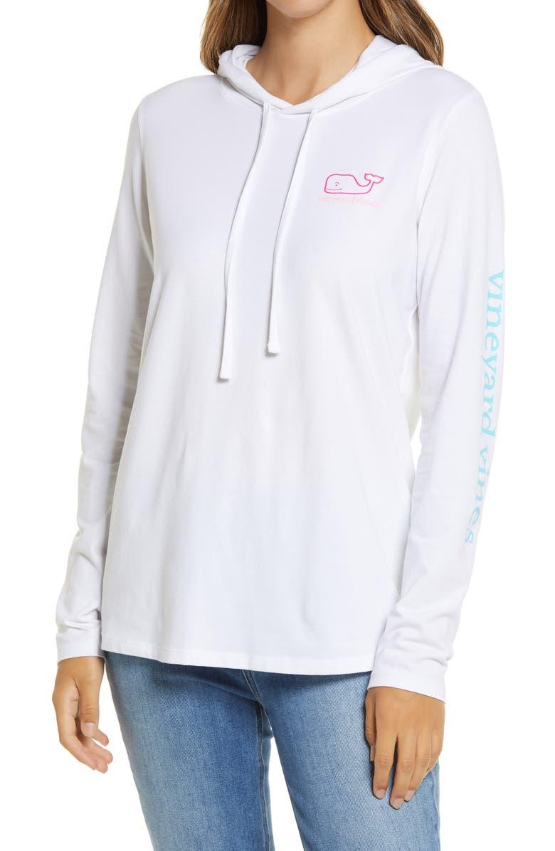 VINEYARD VINES Edgartown Hooded T-Shirt, Main, color, WHITE CAP