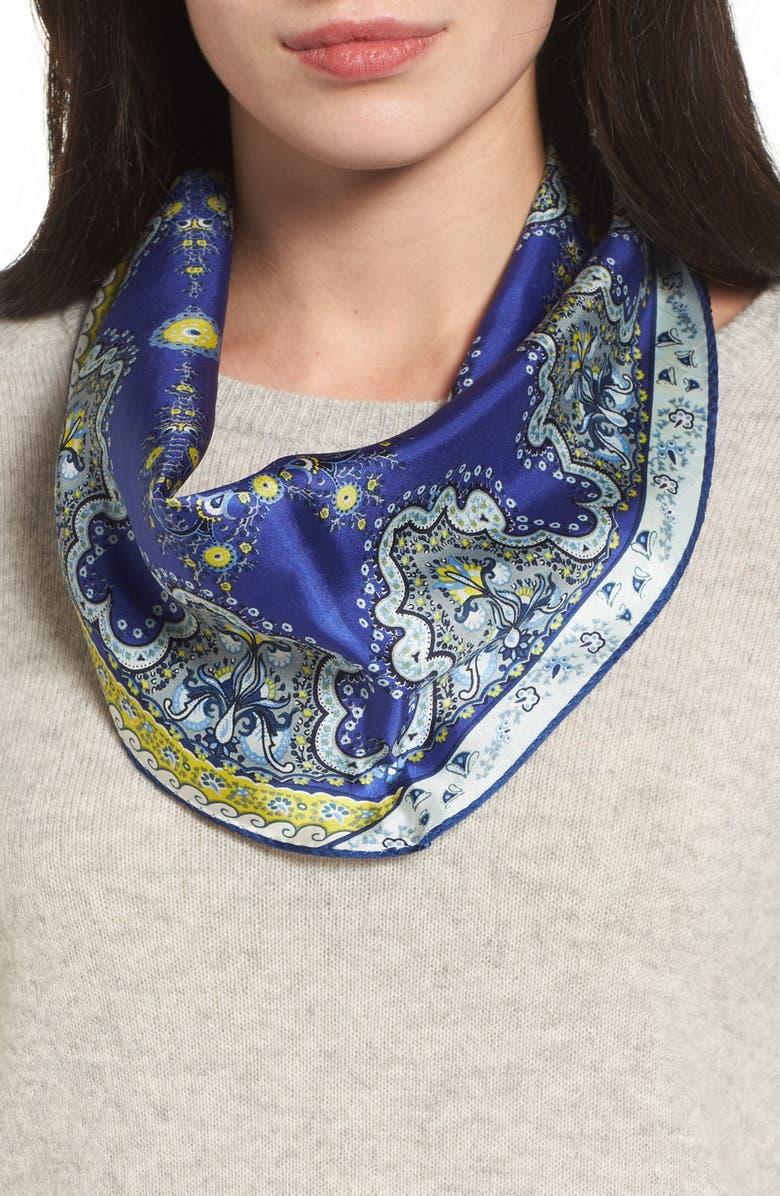 ECHO Paisley Lace Diamond Silk Scarf, Main, color, 411