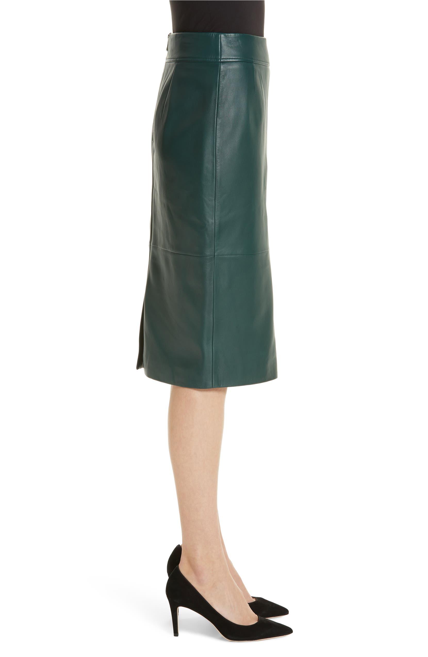 dirt cheap rich and magnificent super popular Selrita Lambskin Leather Pencil Skirt