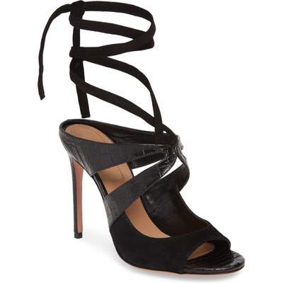 Aquazzura Mabel Ankle Strap Sandal - Black