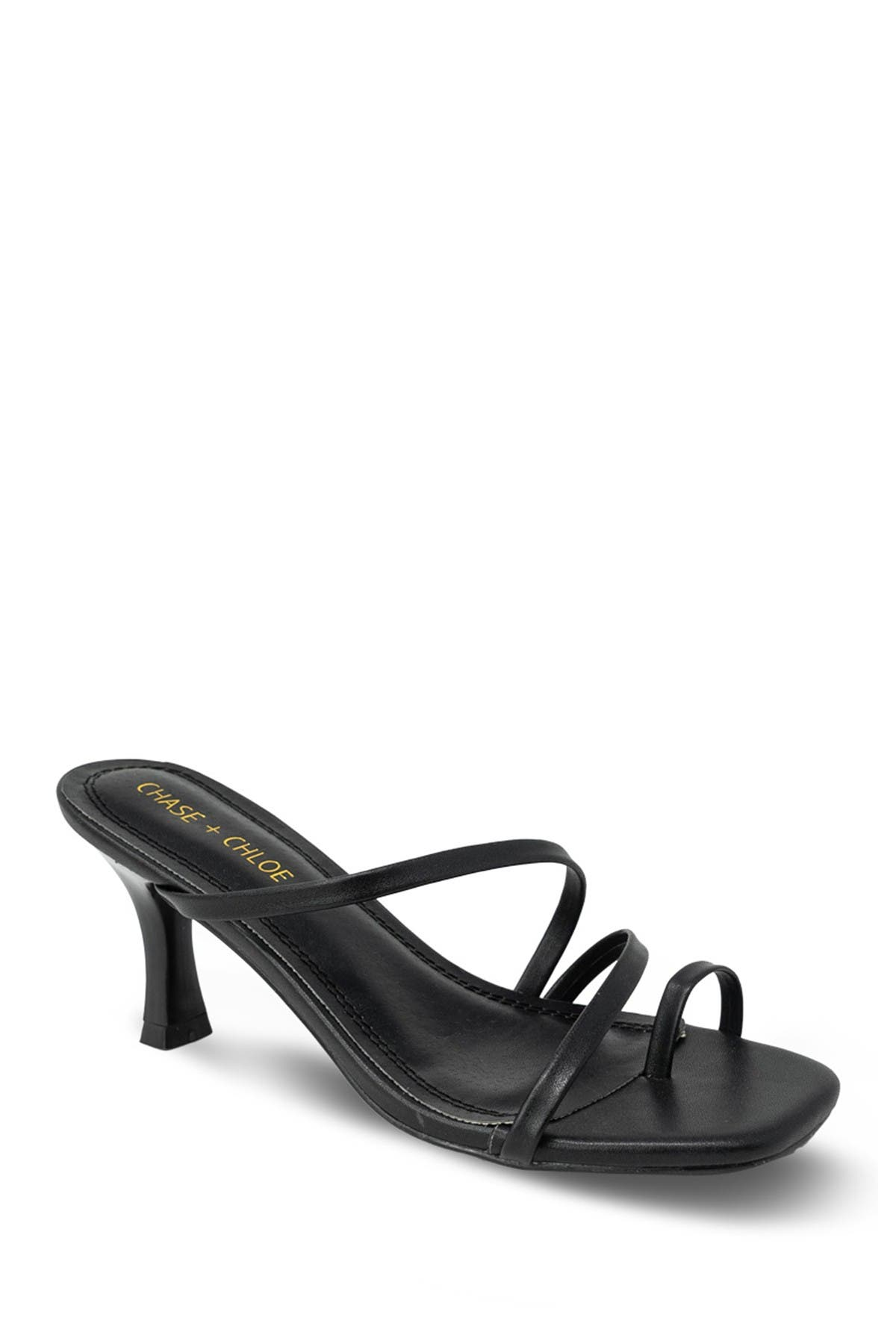 Image of Chase & Chloe Kitty Slip-On Low Heel Sandal