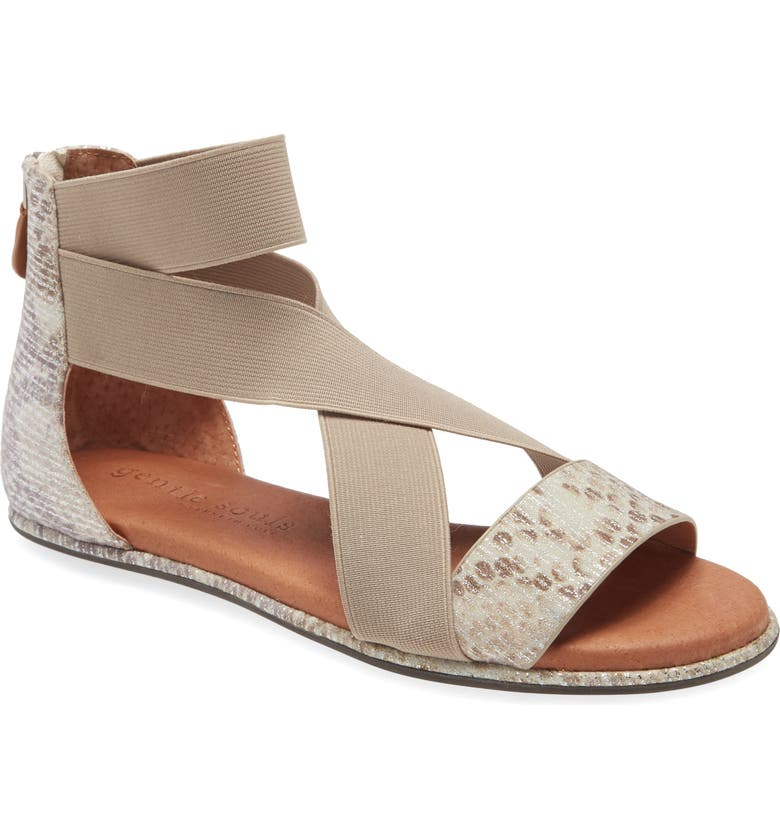 GENTLE SOULS BY KENNETH COLE Break Sandal, Main, color, IVORY SNAKE PRINT LEATHER
