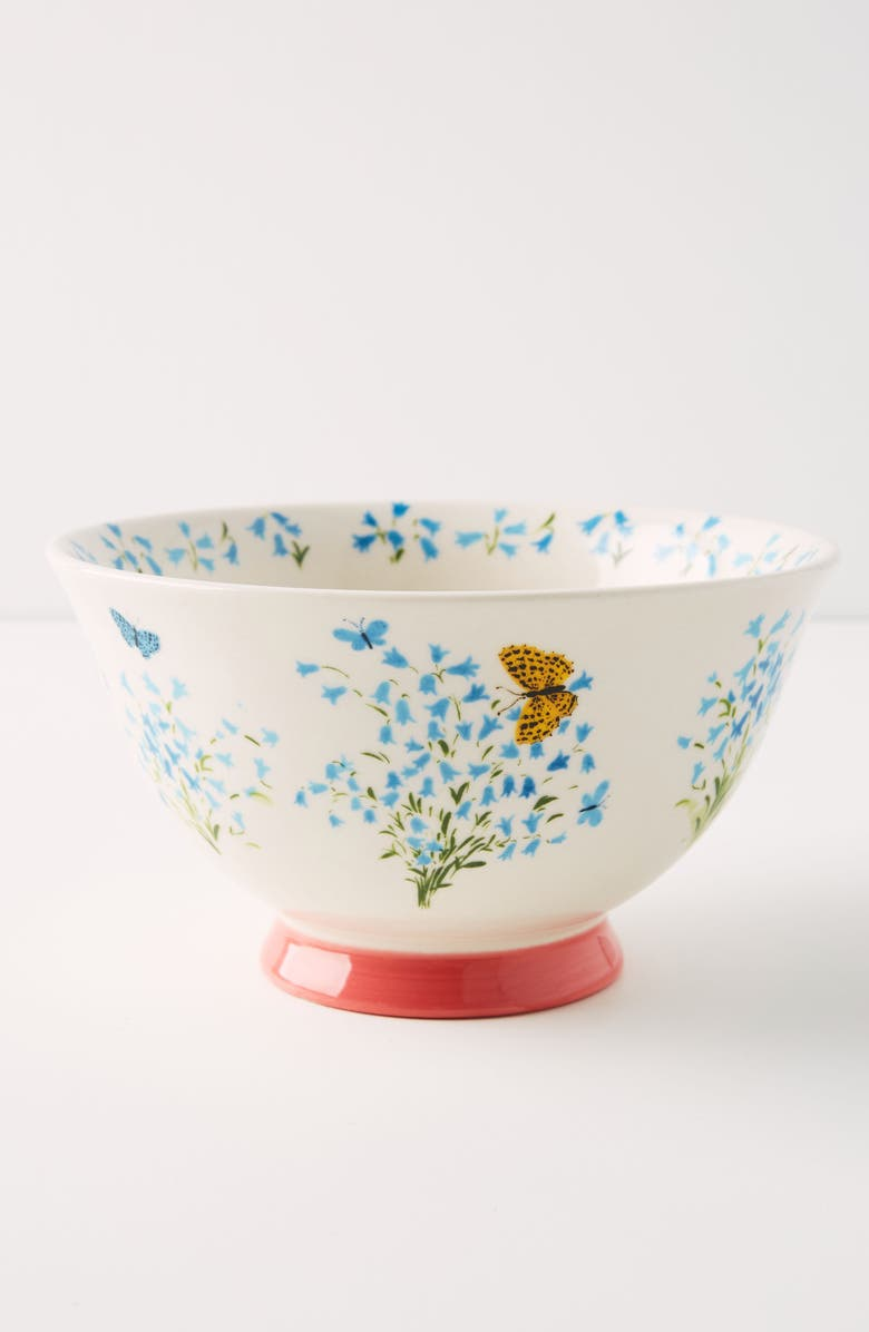 ANTHROPOLOGIE Paule Marrot Set of 4 Bowls, Main, color, WHITE