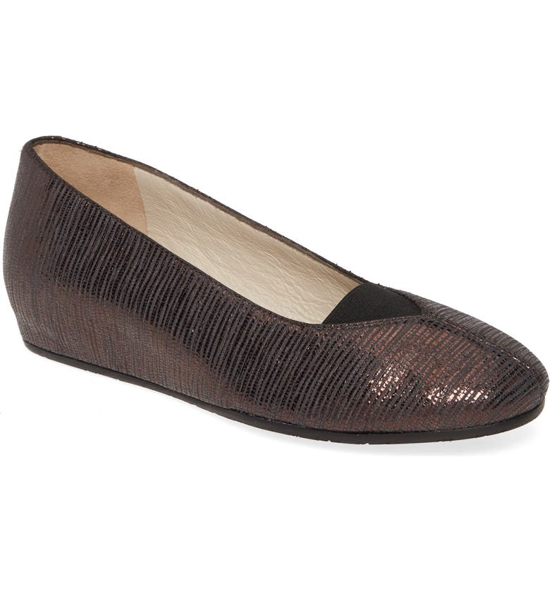 AMALFI BY RANGONI Vincent Skimmer Wedge, Main, color, BROWN PRINT LEATHER