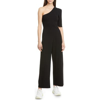 Stella Mccartney One-Shoulder Compact Knit Jumpsuit, US / 40 IT - Black