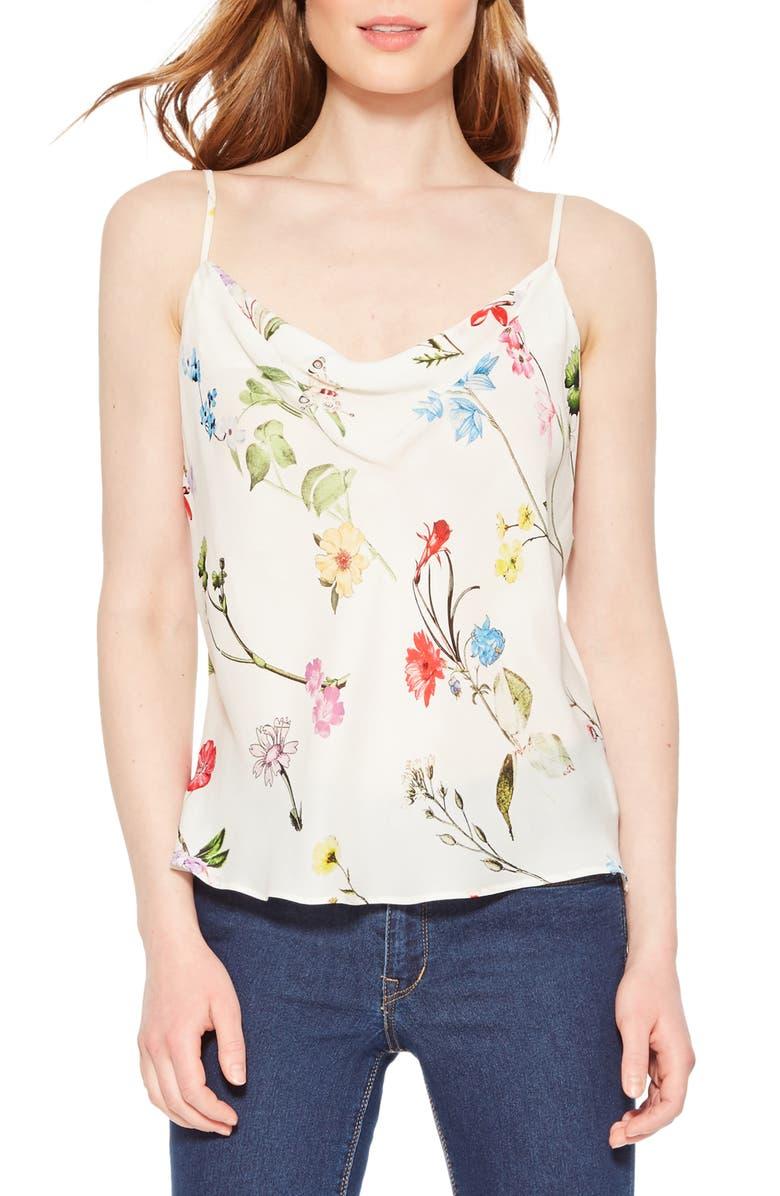 PARKER Summer Floral Silk Camisole, Main, color, 197