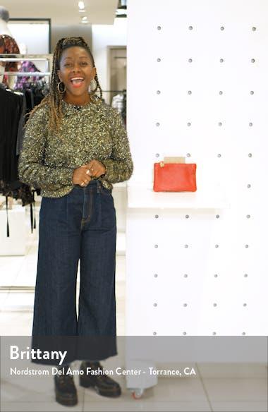 Goatskin Leather Zip Clutch, sales video thumbnail