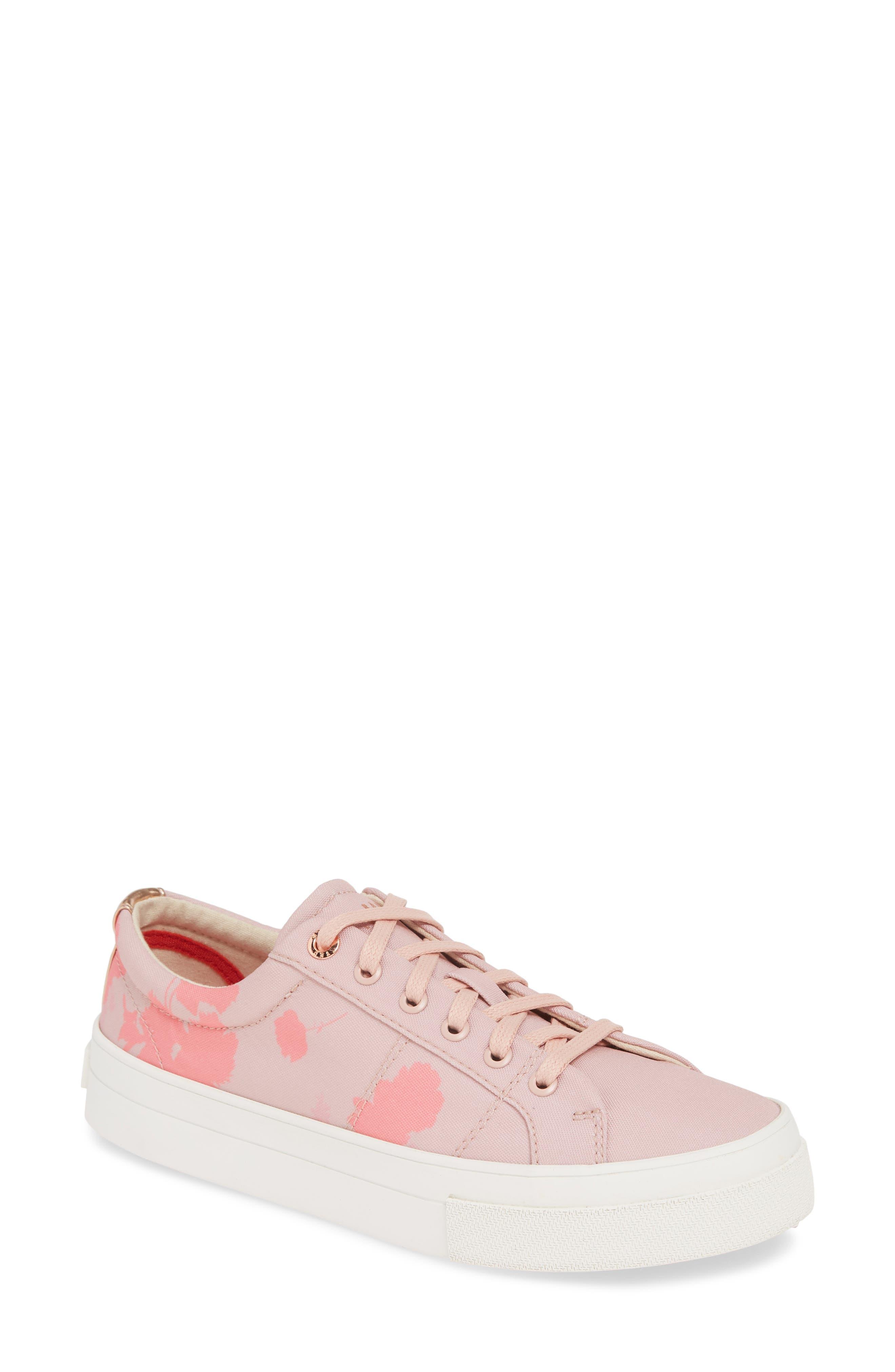 Ted Baker London Ephie Floral Print Platform Sneaker, Pink