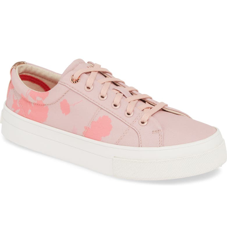 TED BAKER LONDON Ephie Floral Print Platform Sneaker, Main, color, PINK CANVAS