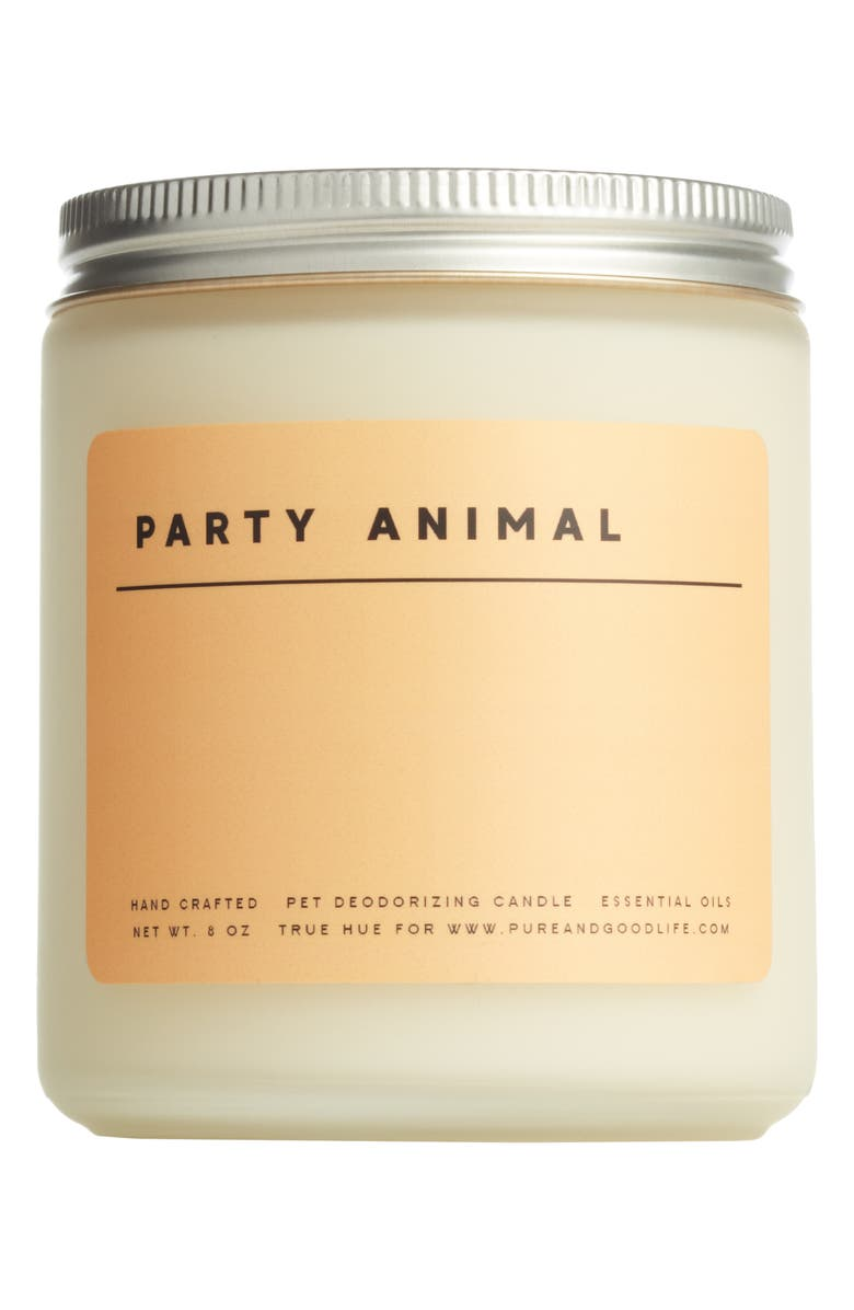 PURE + GOOD Party Animal Pet Deodorizing Soy Wax Candle, Main, color, 800