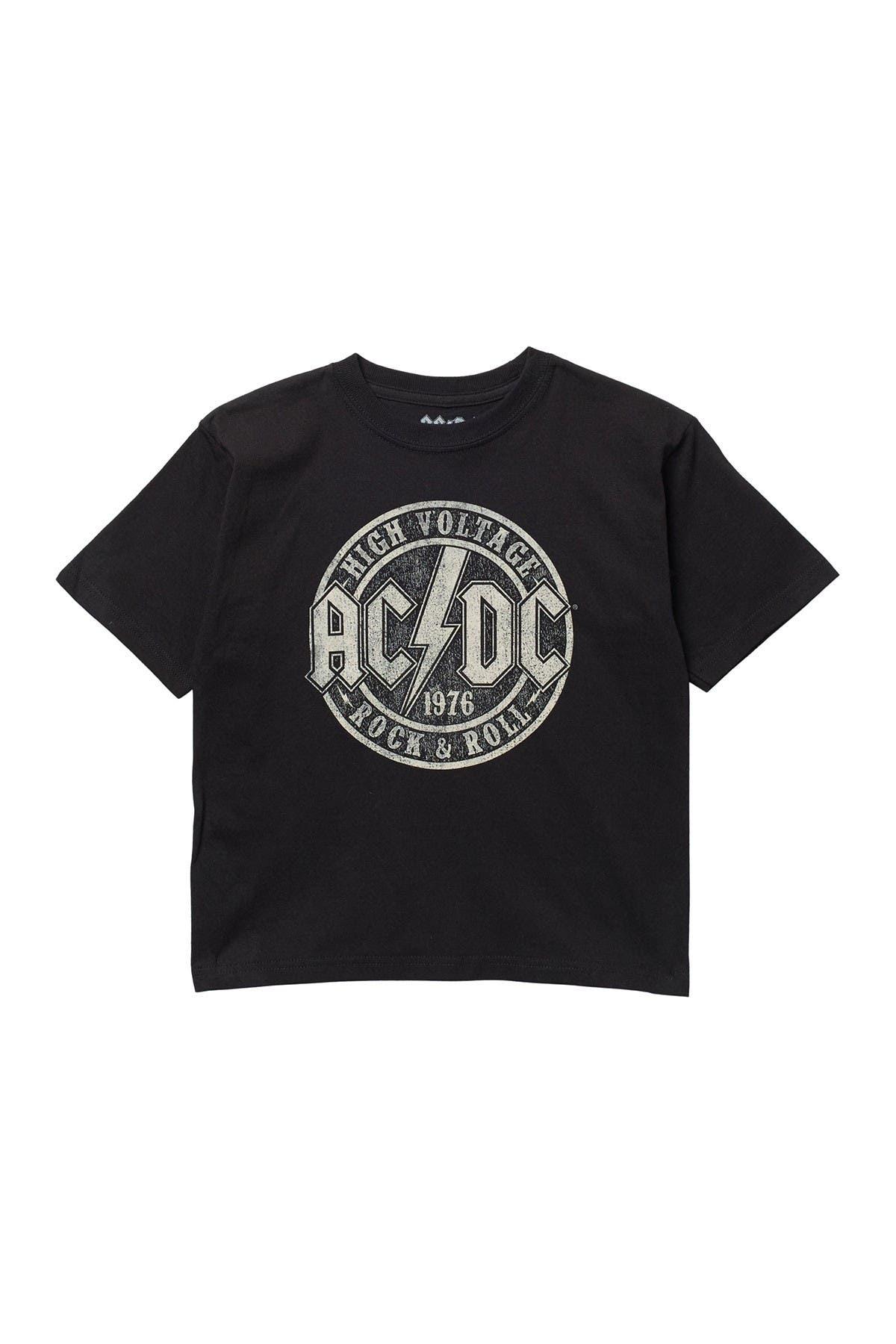 Image of Philcos AC/DC Lightning Bolt Crew Neck T-Shirt