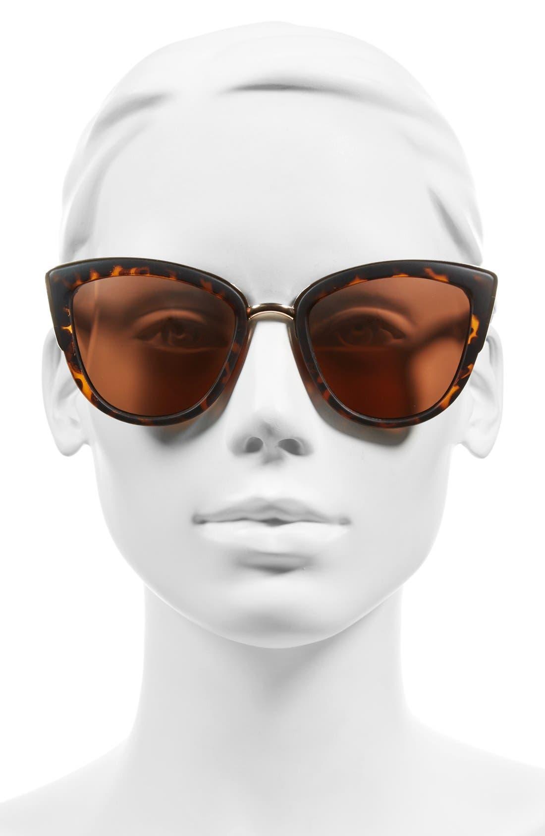 ,                             55mm Metal Rim Cat Eye Sunglasses,                             Alternate thumbnail 15, color,                             650
