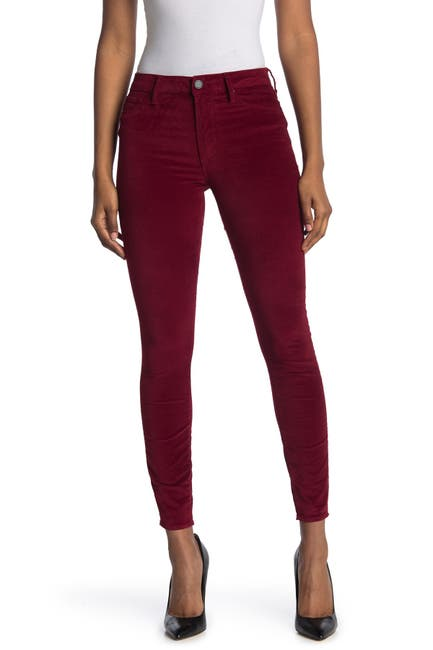 Image of Articles of Society Hilary High Rise Velveteen Skinny Pants