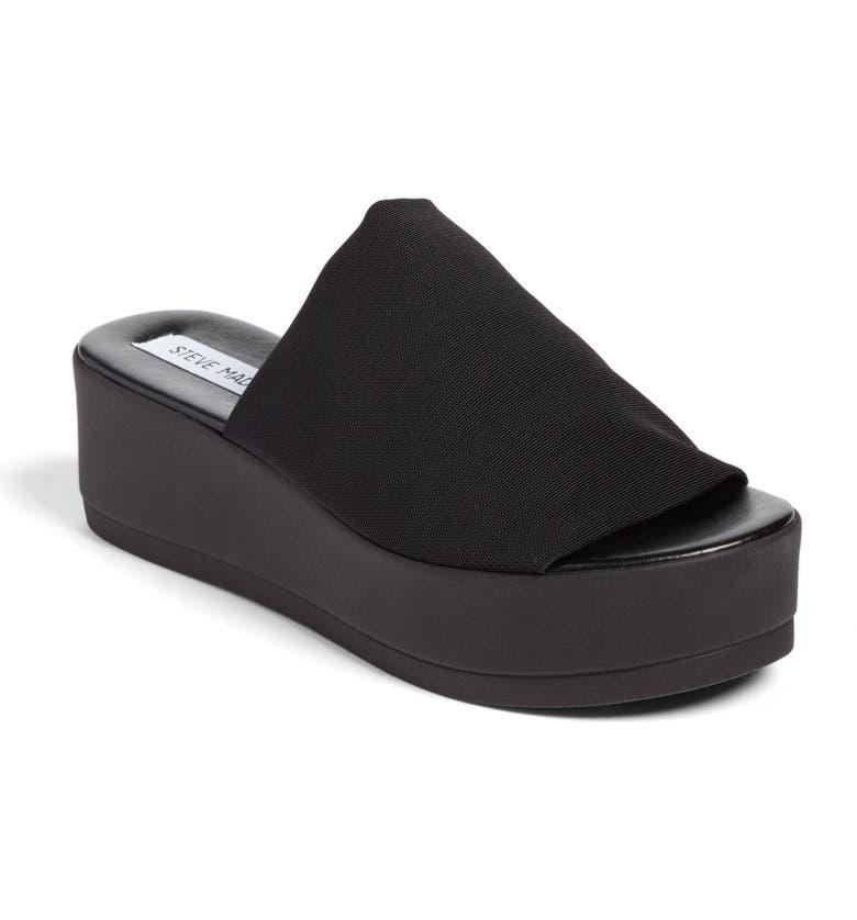 STEVE MADDEN Slinky Platform Sandal, Main, color, 001