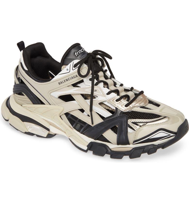 BALENCIAGA Track 2 Sneaker, Main, color, BEIGE / BLACK
