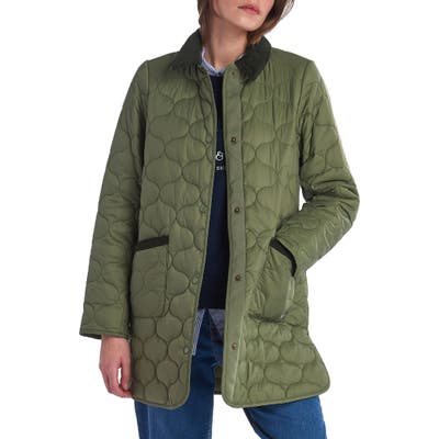 Barbour Erin Quilted Jacket, US / 12 UK - Green
