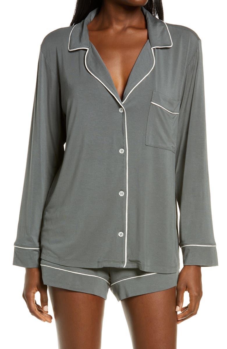 EBERJEY 'Gisele' Short Pajamas, Main, color, KELP/ BONE