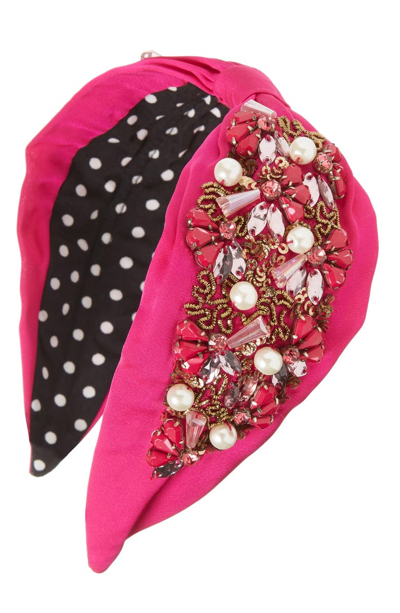 NAMJOSH Bead & Crystal Embellished Headband, Main, color, 650