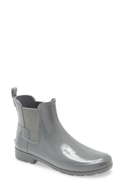 Hunter Original Refined Chelsea Waterproof Rain Boot In Geysers