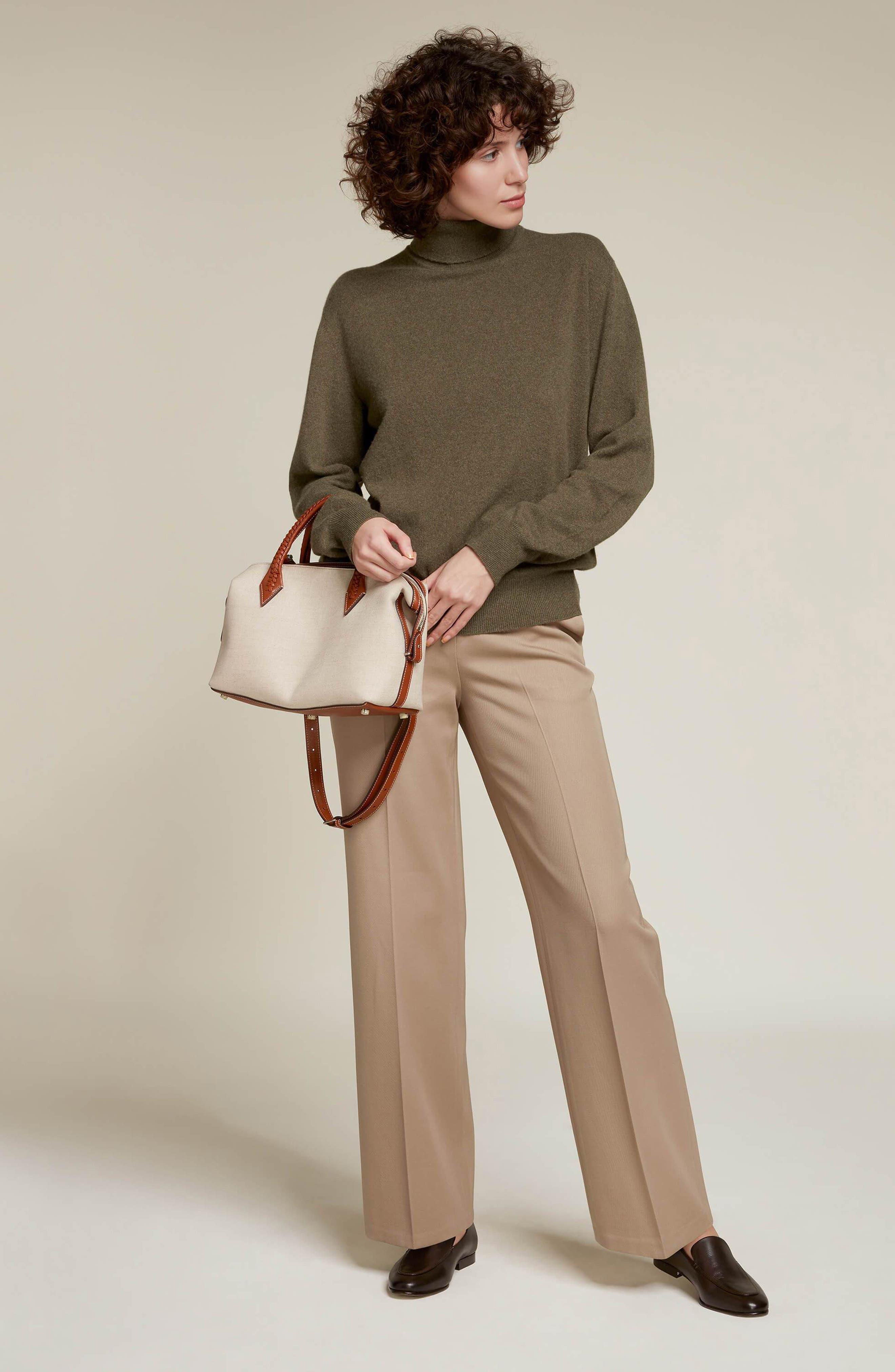 Small Perriand City Linen Duffle Handbag