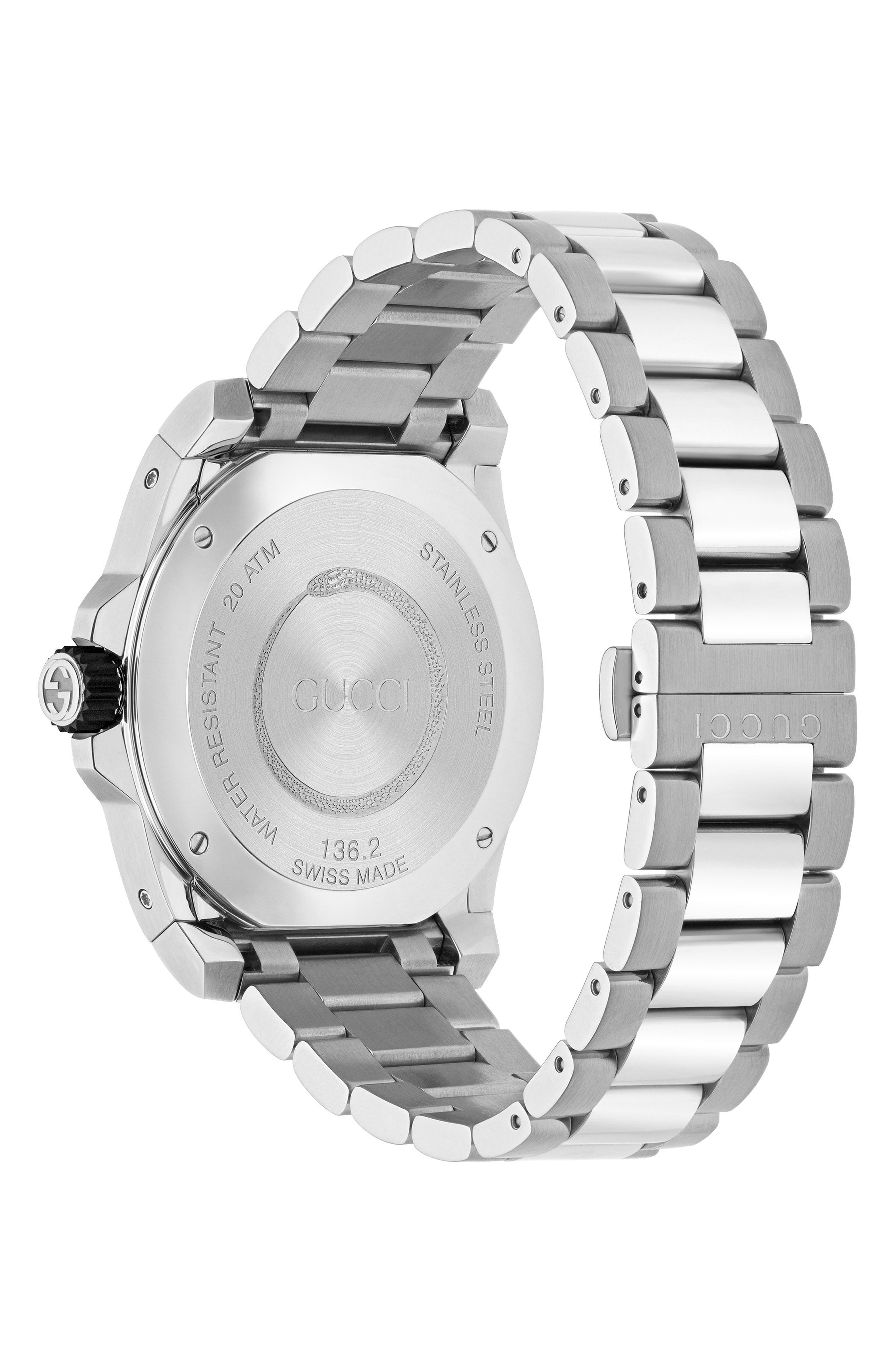 ,                             Dive Watch, 45mm,                             Alternate thumbnail 2, color,                             SILVER/ BLACK/ SILVER