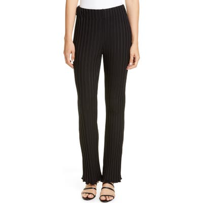 Simon Miller Flared Leg Rib Pants, Black