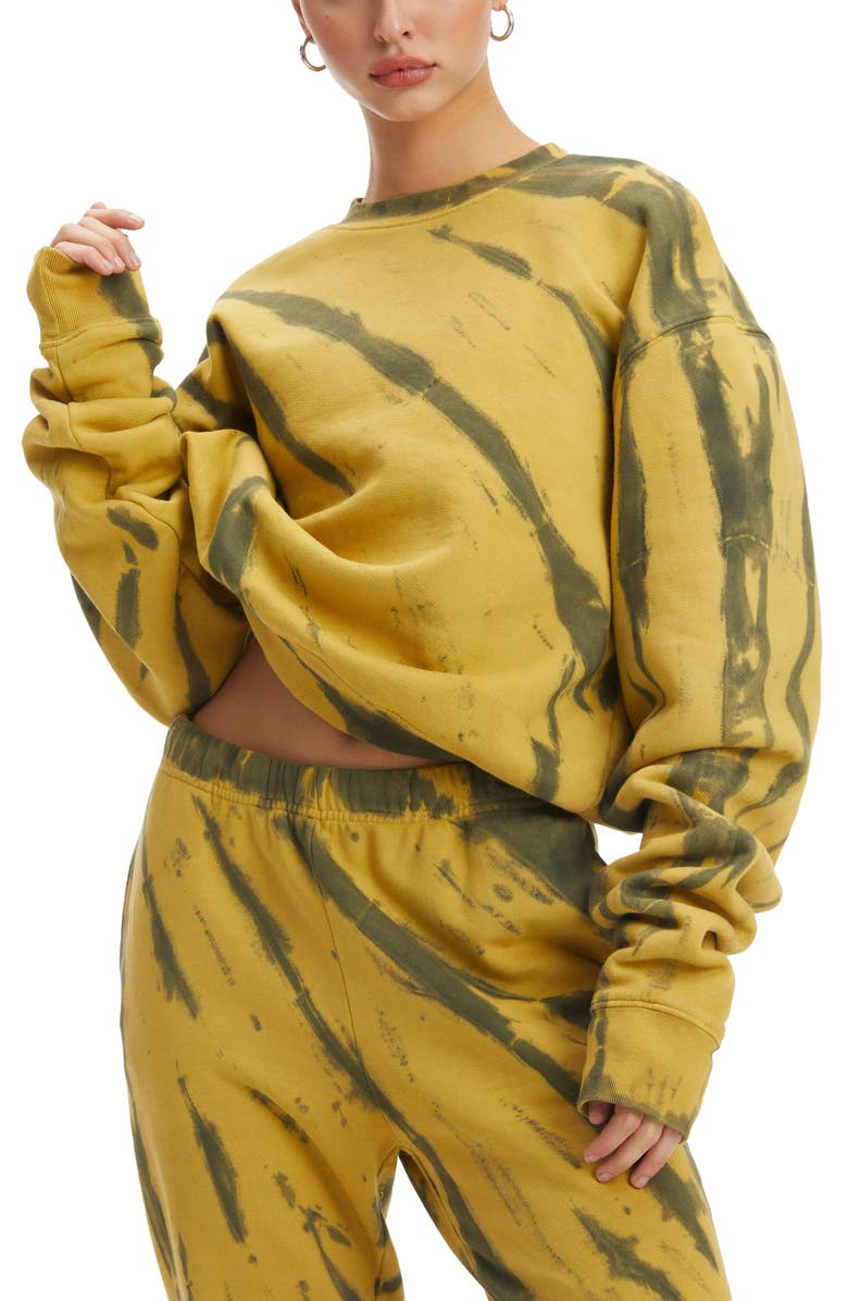 GOOD AMERICAN Boyfriend Pullover Sweatshirt, Main, color, 301