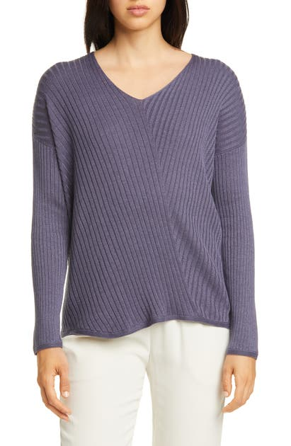 Eileen Fisher Tops RIBBED V-NECK TOP