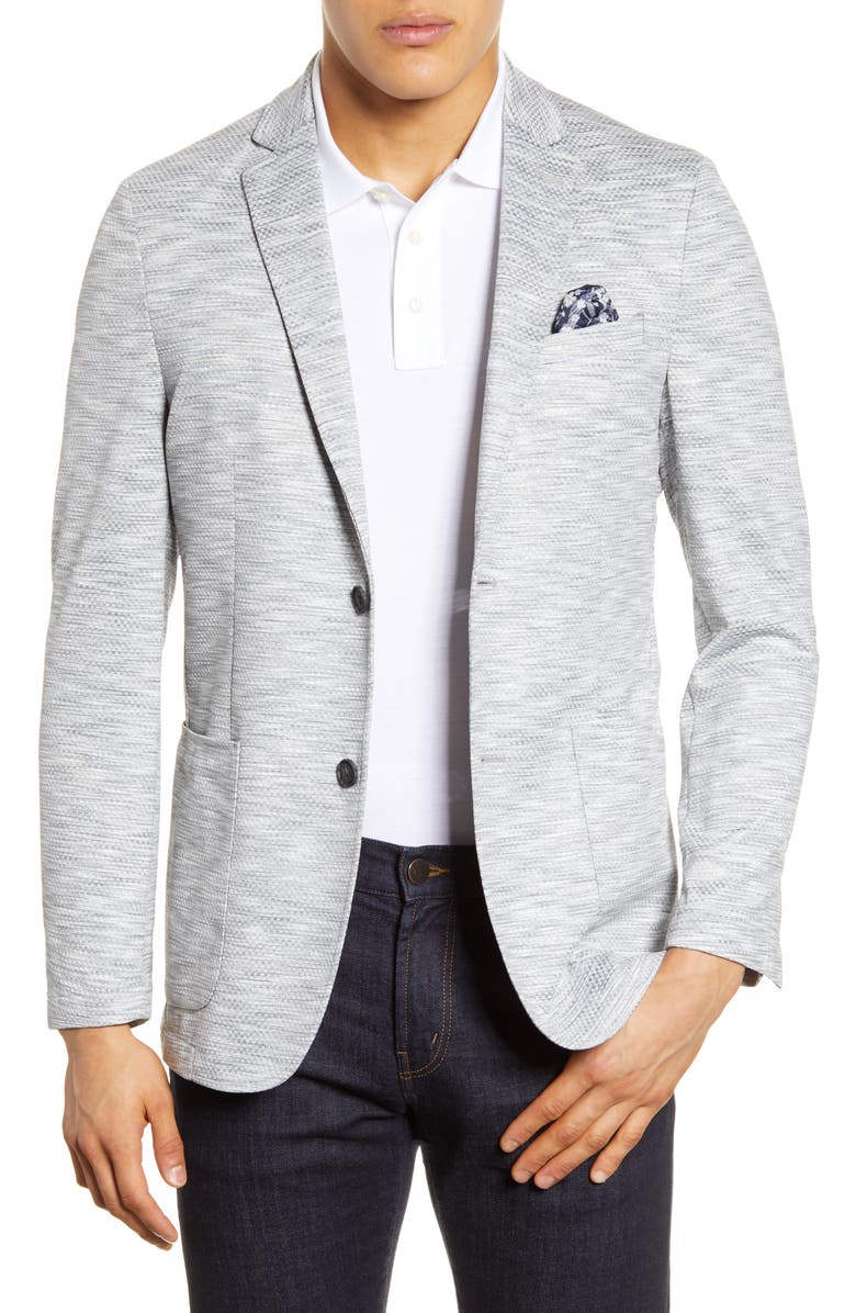 VINCE CAMUTO Stretch Performance Sport Coat, Main, color, SPACE DYE GREY