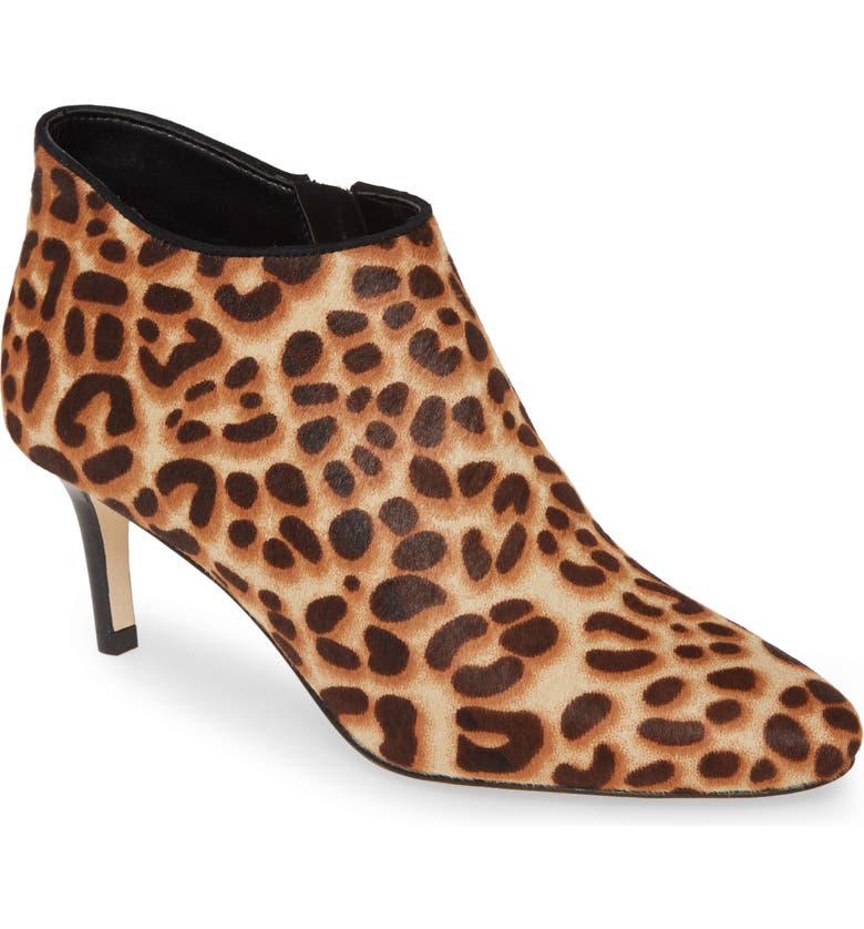PELLE MODA 'Yelm' Almond Toe Genuine Calf Hair Bootie, Main, color, LEOPARD PRINT CALF HAIR