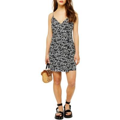 Petite Topshop Sleeveless Button Minidress, P US (fits like 14P) - Black