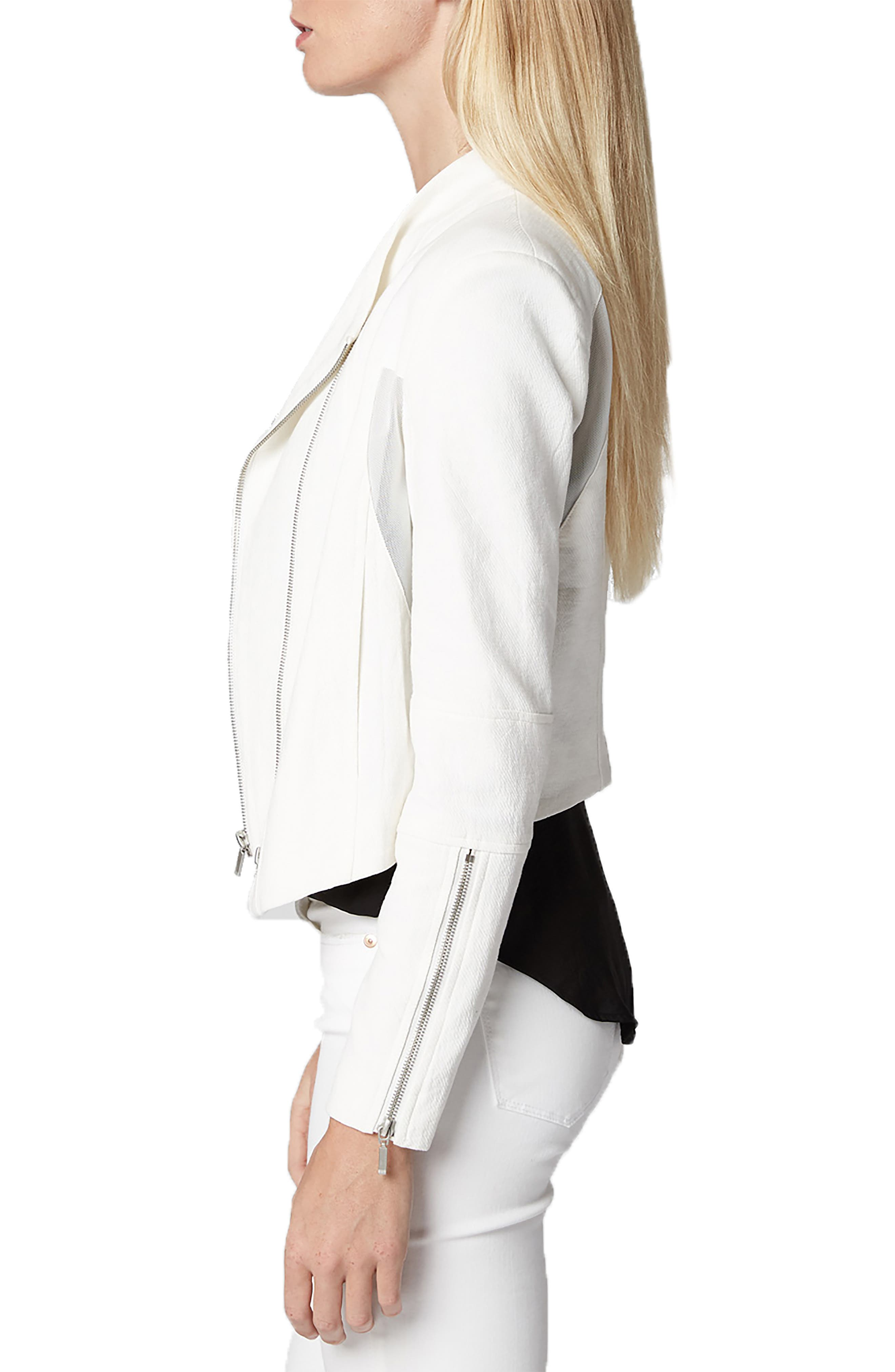 ,                             Mesh Detail Crepe Jacket,                             Alternate thumbnail 4, color,                             WINDY CITY