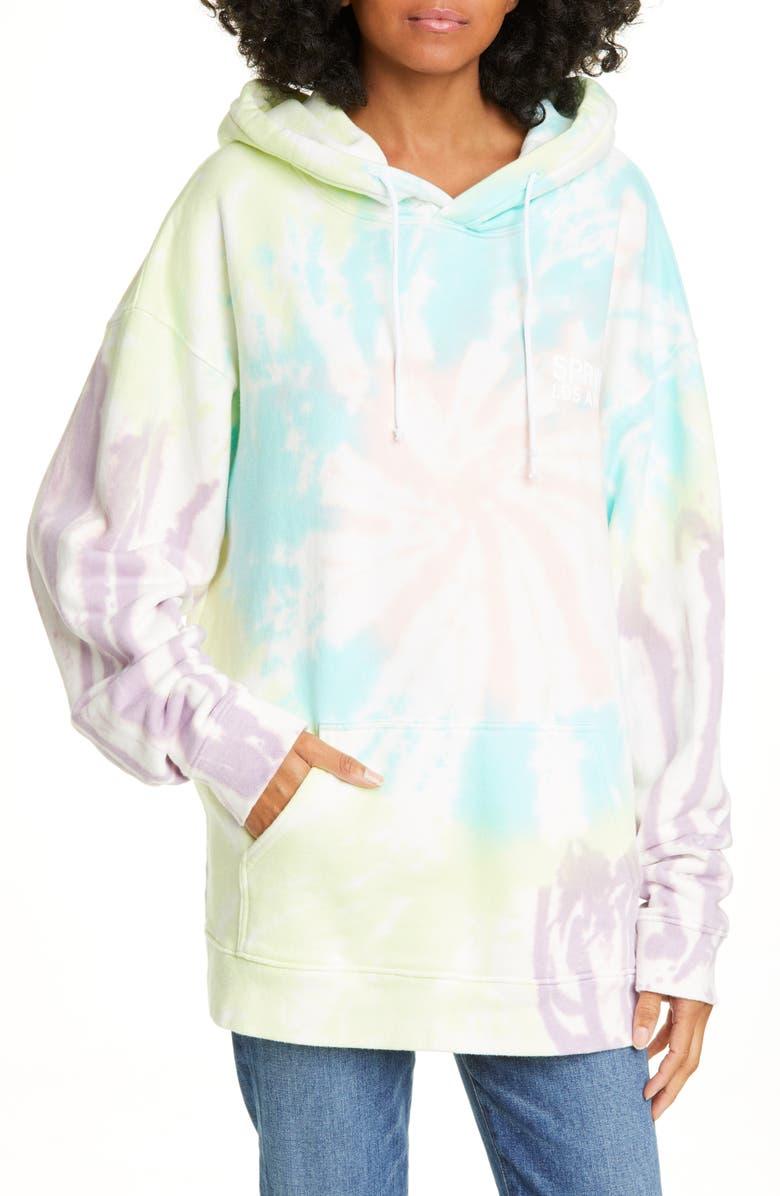 SPRWMN Tie Dye Hoodie, Main, color, 100