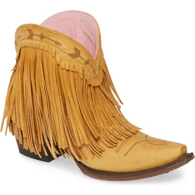 Lane Boots X Junk Gypsy Spitfire Fringe Bootie- Yellow