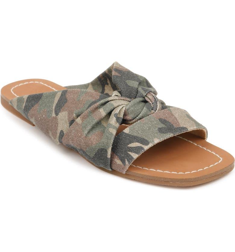 SPLENDID Alannis Slide Sandal, Main, color, CAMOUFLAGE FABRIC