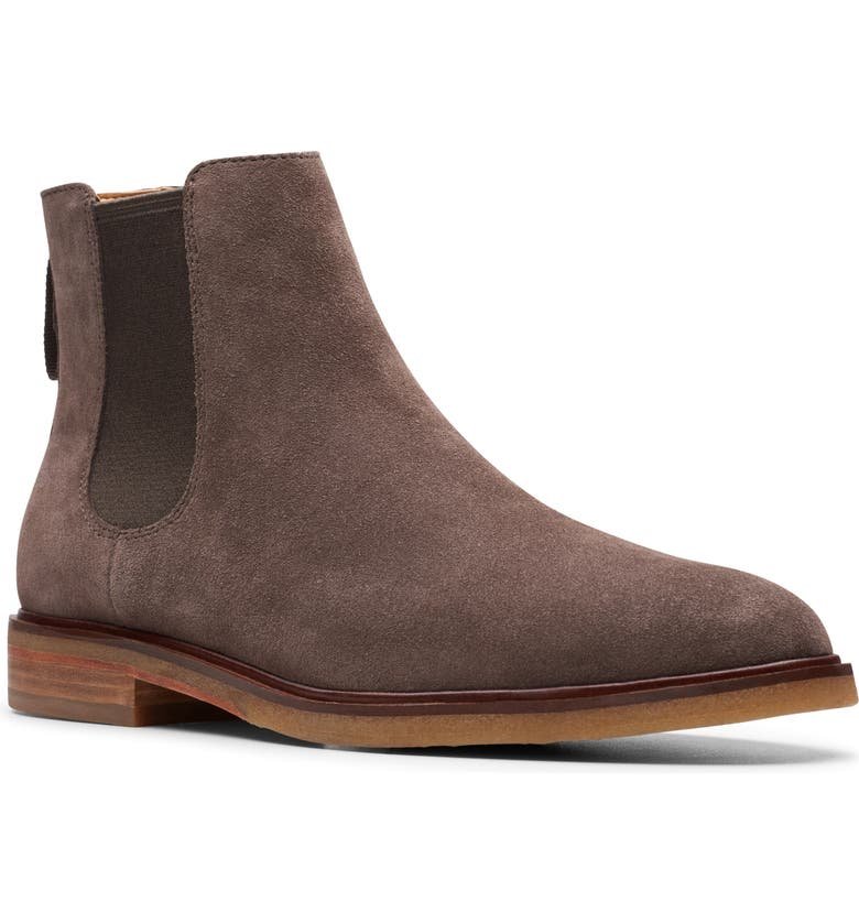 CLARKS<SUP>®</SUP> Clarkdale Gobi Chelsea Boot, Main, color, TAUPE SUEDE