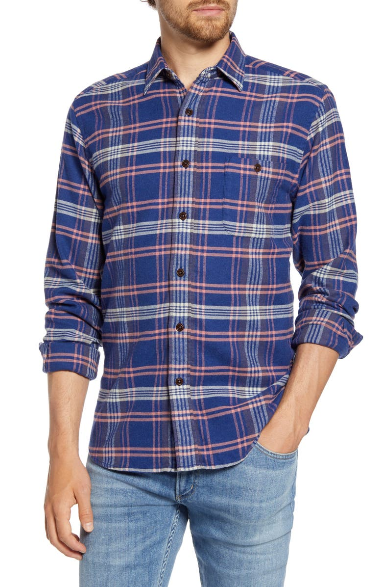 FAHERTY Seaview Regular Fit Plaid Flannel Button-Up Shirt, Main, color, CARDIFF PLAID