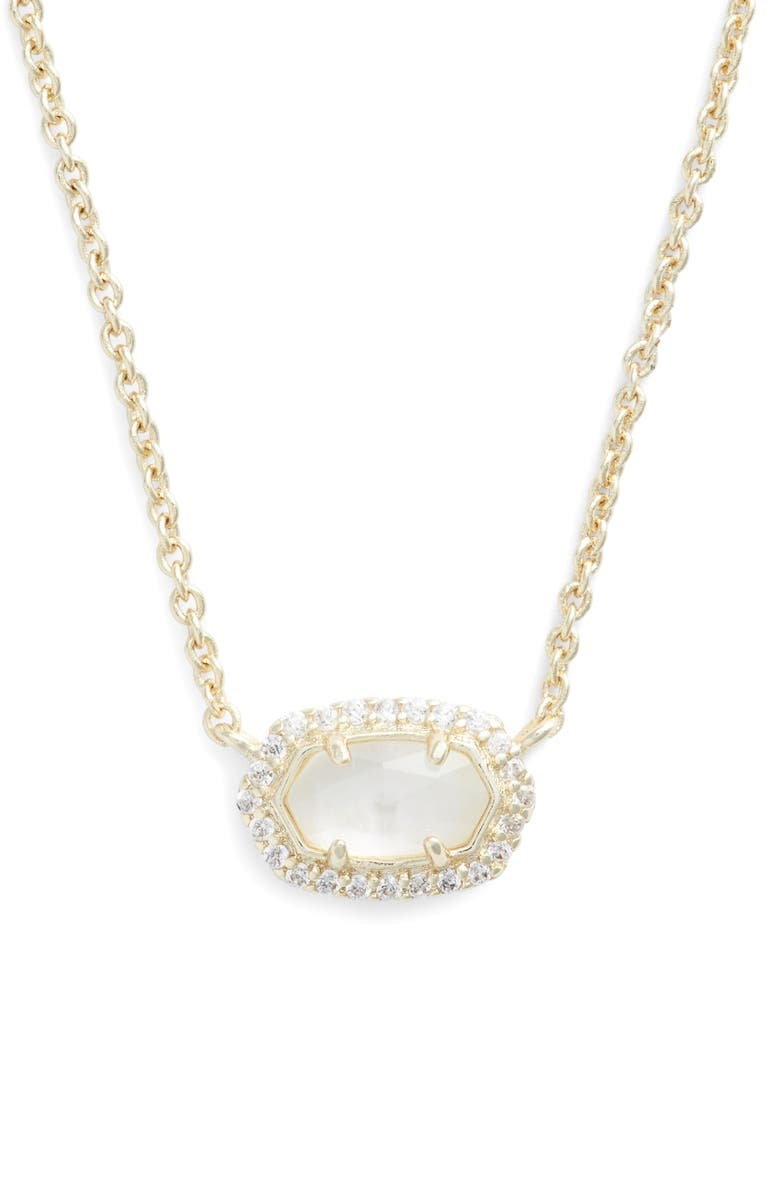 KENDRA SCOTT Chelsea Pendant Necklace, Main, color, IVORY/ GOLD