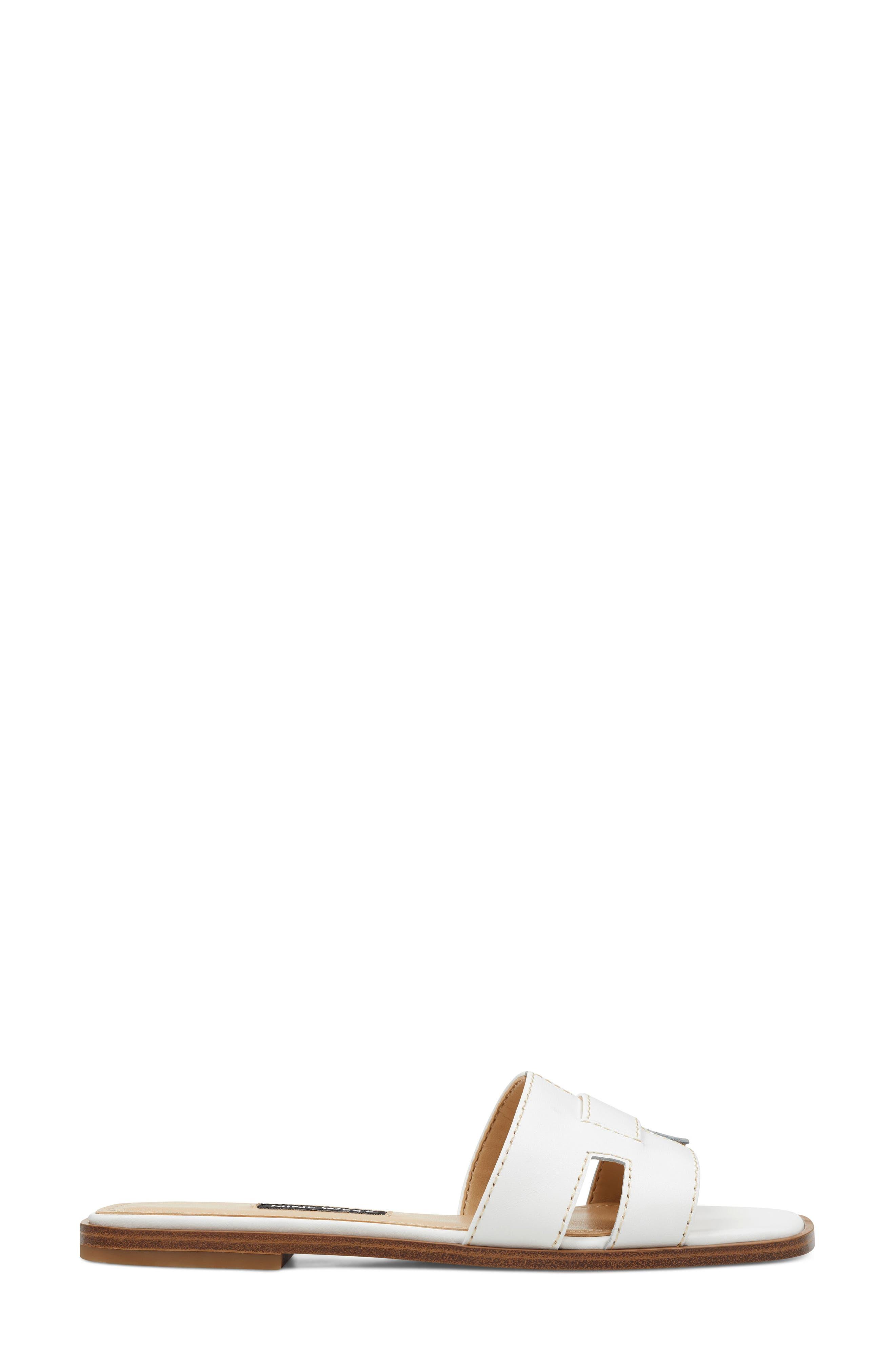 ,                             Gianna Cutout Slide Sandal,                             Alternate thumbnail 2, color,                             WHITE LEATHER