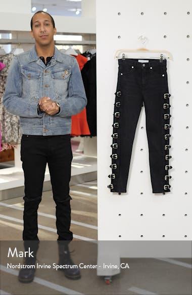 Jamie Side Buckle High Waist Skinny Jeans, sales video thumbnail