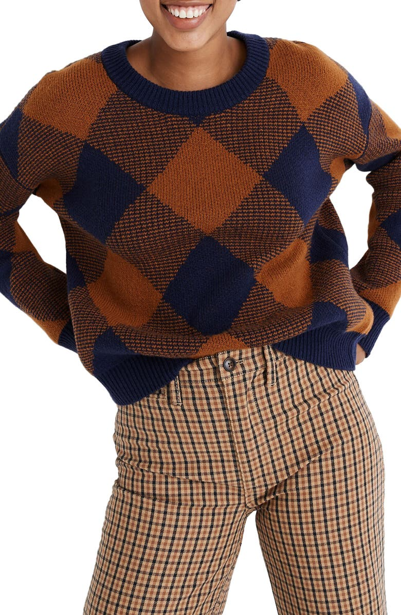 MADEWELL Mullen Pullover Sweater, Main, color, GOLDEN PECAN