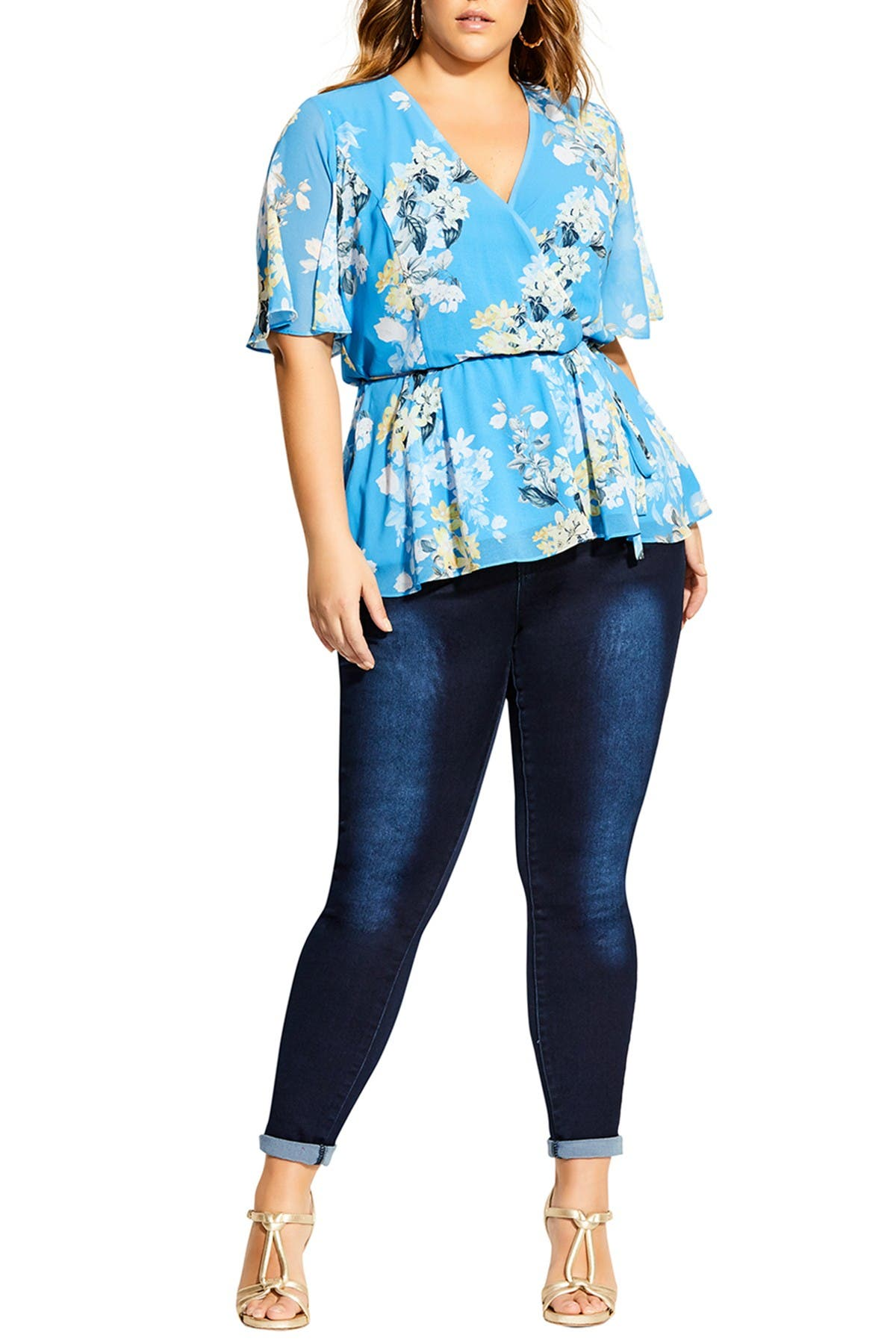 Image of City Chic Whisper Floral Top