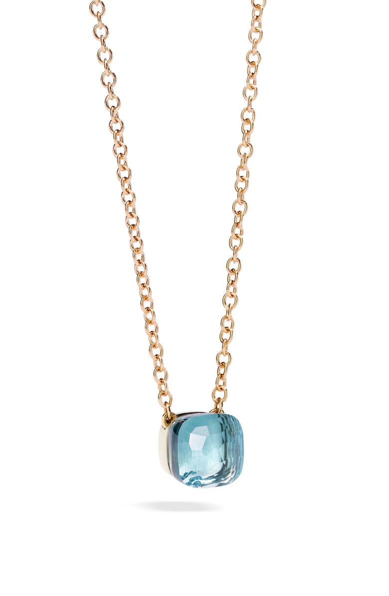 POMELLATO Nudo Pendant Necklace, Main, color, ROSE GOLD/ SKY BLUE TOPAZ