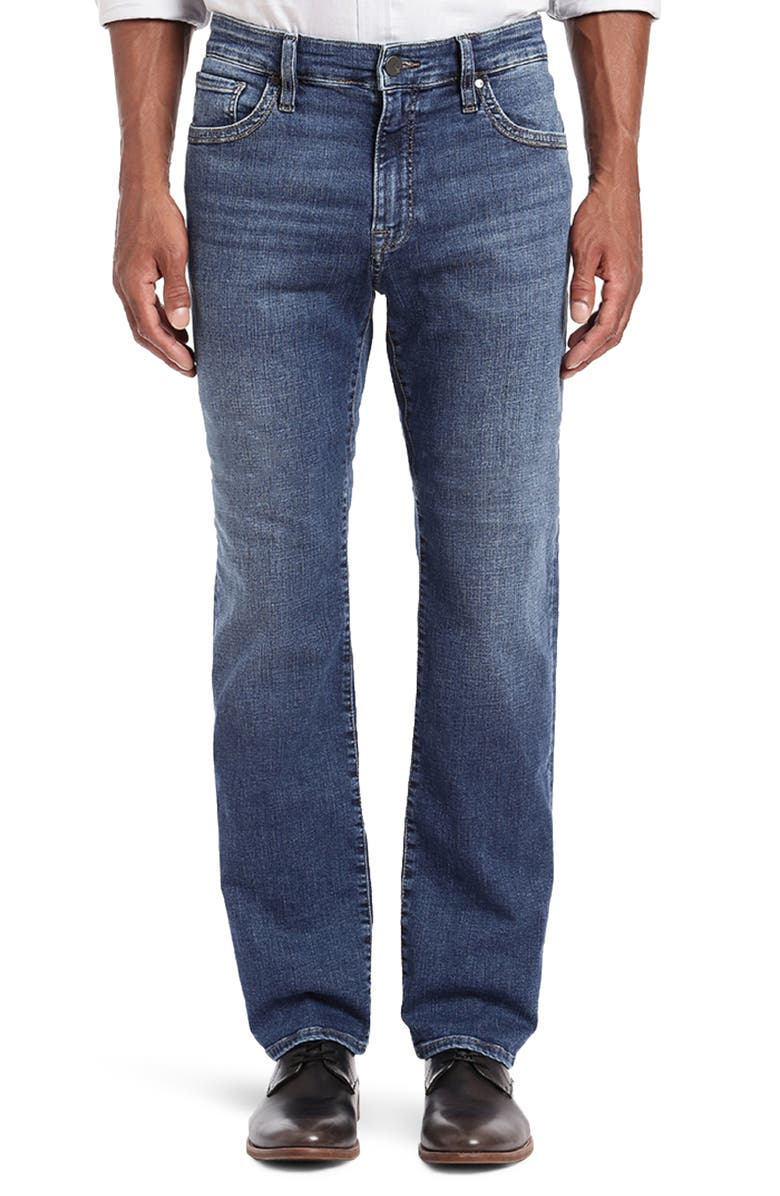 34 HERITAGE Courage Straight Leg Jeans, Main, color, MID INDIGO CASHMERE