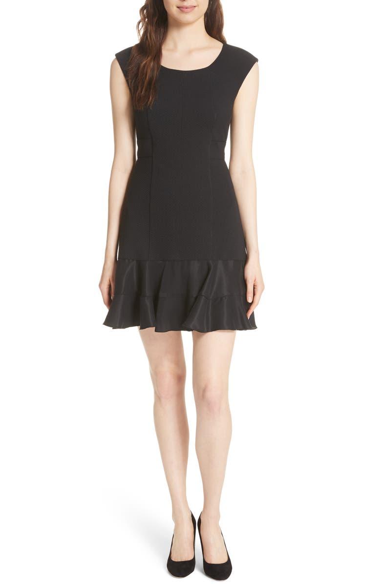 REBECCA TAYLOR Terri Dress, Main, color, BLACK